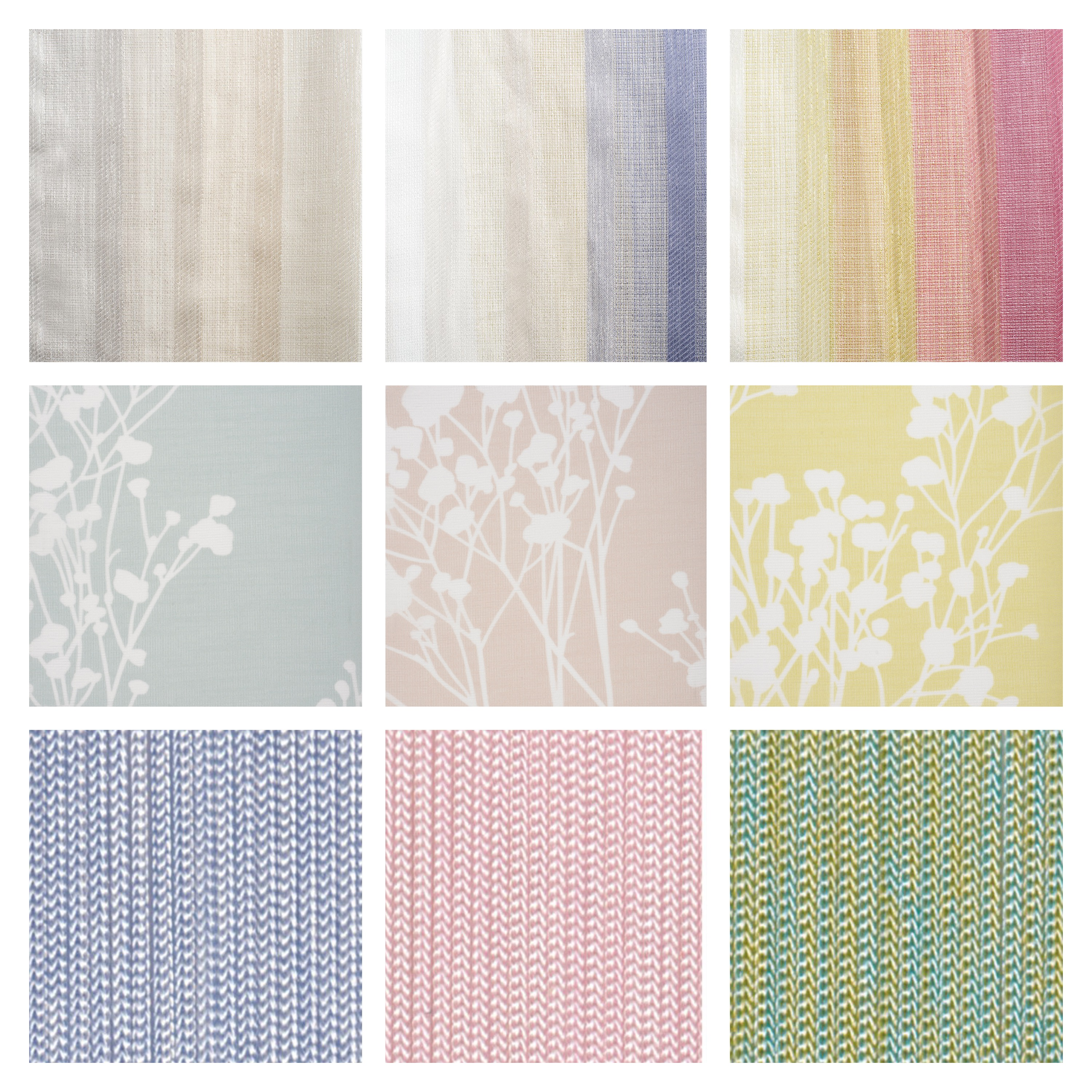 Top Row L-R The 'Liguria' collection Mid Row L-R The 'Summertime' collection Bottom Row L-R The 'Luxe String' collection