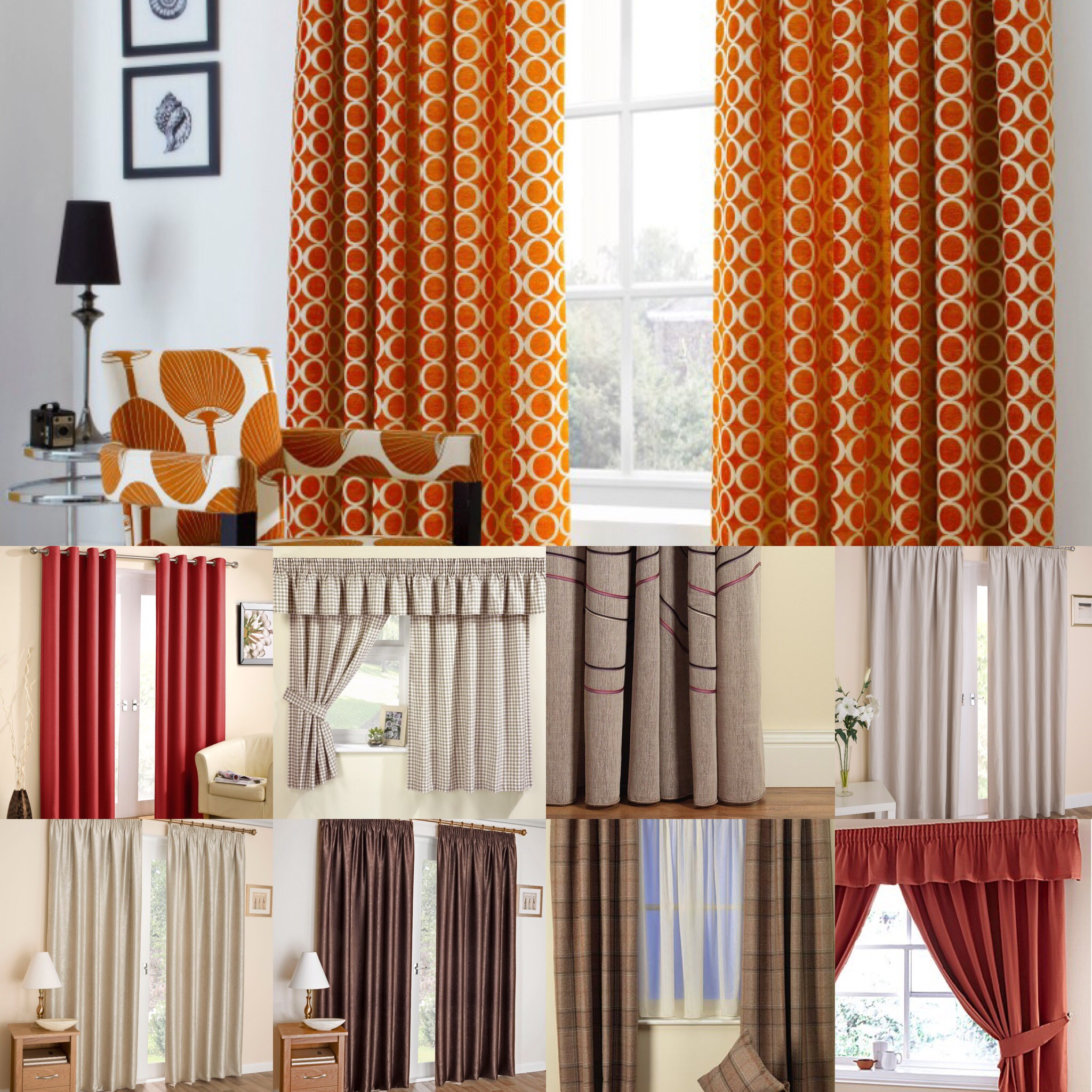 Autumnal Lined Curtains